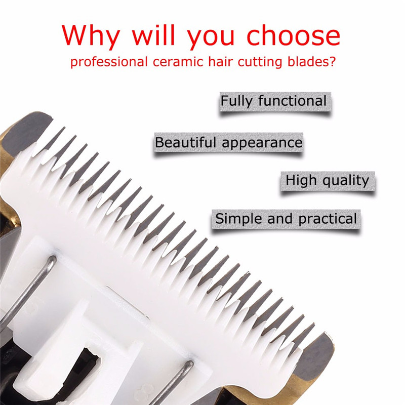 Professional Pet Dog Cat Hair Clipper Replaceable Ceramic Blade Cut Head Dog Hair Trimmer Grooming Blades8