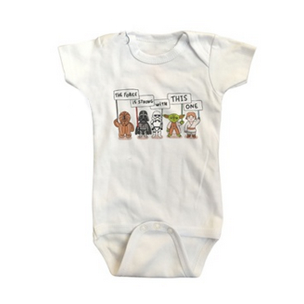 Summer Baby Cartoon Pattern Short Sleeve   Romper   Infants Baby Boys Girls White jumpsuit