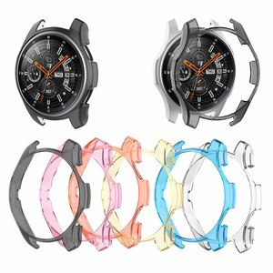 Image 1 - 6 Colors PC Case For Samsung Gear S3 Frontier Watch Shell Cover Screen Protector For Galaxy Watch 46MM Sport Watch