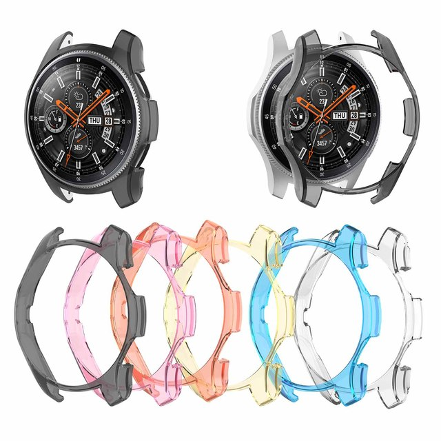 6 Colors PC Case For Samsung Gear S3 Frontier Watch Shell Cover Screen Protector For Galaxy Watch 46MM Sport Watch