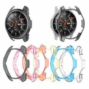 Image 1 - 6 kolorów obudowa pc dla Samsung Gear S3 Frontier koperta zegarka osłona ekranu dla Galaxy Watch 46MM Sport Watch