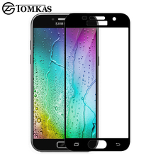 TOMKAS For Samsung Galaxy J3 J5 J7 A3 A5 2017 Screen Protector Tempered Glass For Galaxy A3 A5 J3 J5 J7 2016 A8 Plus A5 A7 2018