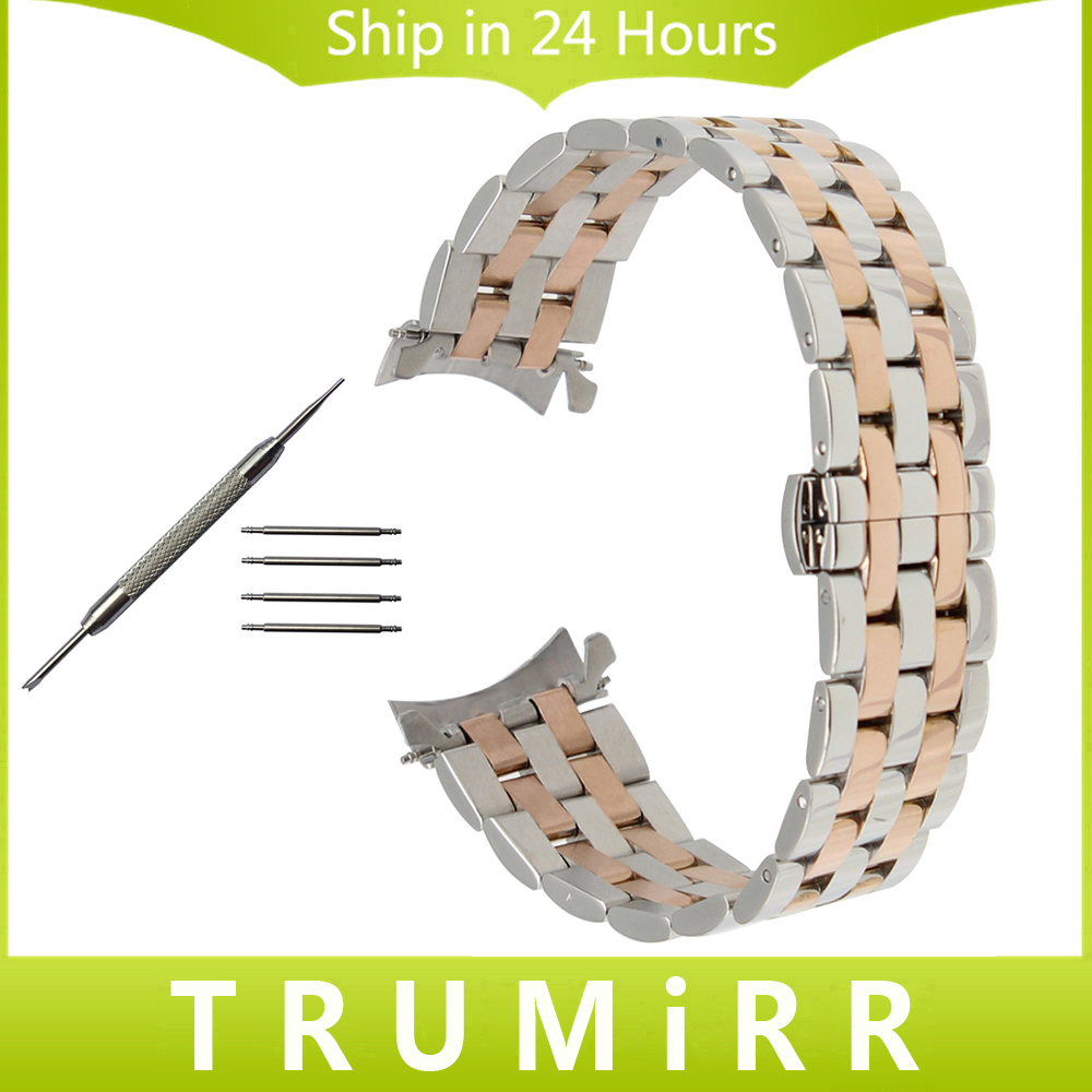 Curved End Stainless Steel Watch Band for Citizen Eco-drive Machanical Men Women Butterfly Clasp Wrist Strap 18mm 20mm 22mm 24mm curved end stainless steel watchband for citizen men women watch band butterfly buckle strap wrist bracelet 18mm 20mm 22mm 24mm