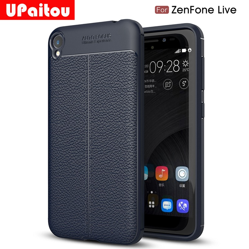 UPaitou Soft TPU Case for Asus Zenfone Live ZB501KL Case Leather Texture Silicone Cover for Zenfone Live ZB501KL Cover Simple