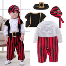 Pirate Captain Cosplay Clothes for Baby Boy Halloween Christ