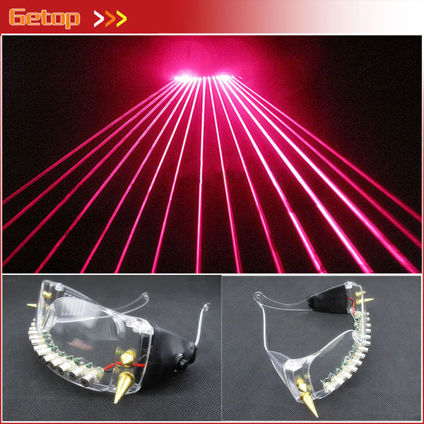 New Version 650nm Red Laser Glasses Party Night Club Glasses 12pcs lasers influx of people necessary stage flashing glasses