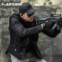 S.ARCHON Waterproof Military Slim Jacket Men Casual Spring Autumn Tactical Pilot Jacket Windbreaker Ripstop Combat Army Clothing