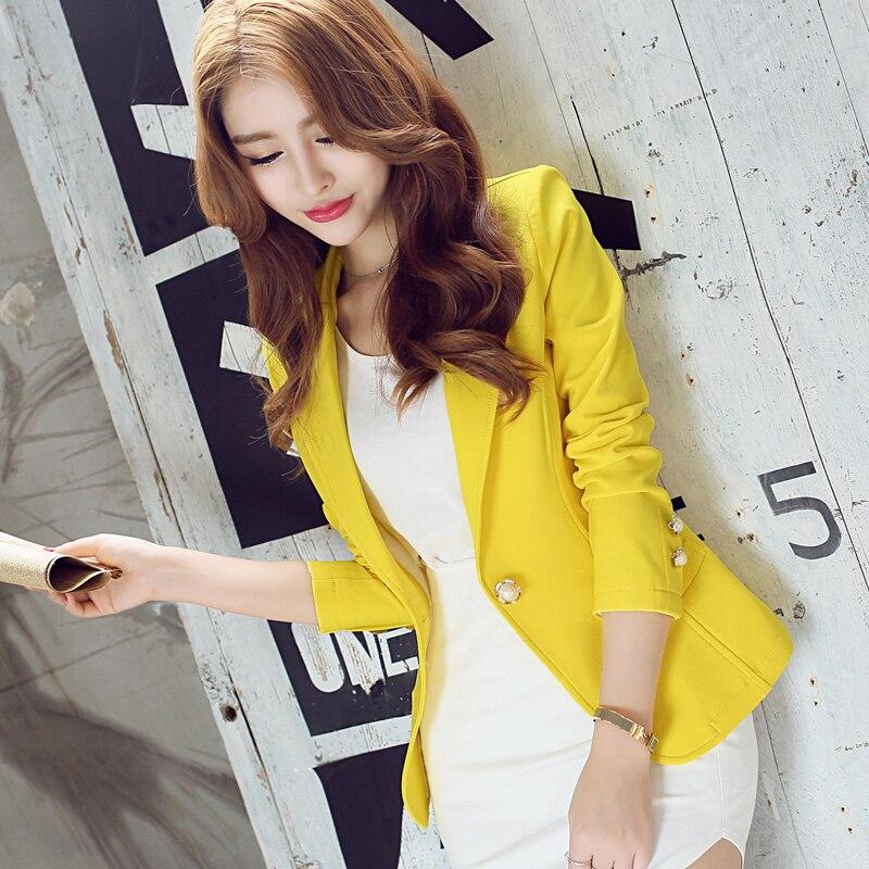 spring autumn new short Wild small suit women's Korean suit women Slim solid color long-sleeved slim female coat blazer femme