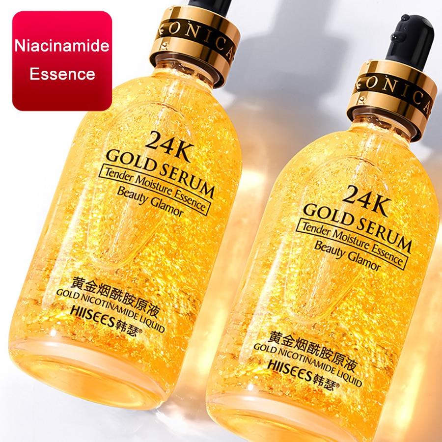 30G 24k Gold Face Serum Hyaluronic Acid Serum Moisturizer Essence Cream Whitening Day Creams Anti Aging Anti Wrinkle Acne Art