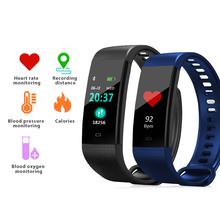 Smart Band Y5 Color Screen Heart Rate Blood Pressure Monitor  Activity Fitness Tracker Smart Bracelet Wristband VS Miband 2 2019 smart band women men 0 96 color screen heart rate blood pressure monitor wristband sport activity tracker fitness bracelet