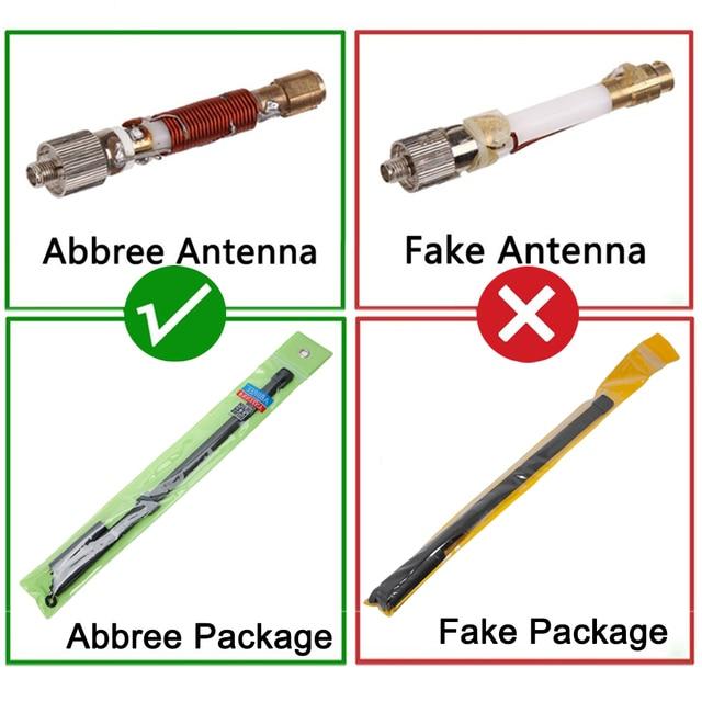 Abbree CS Walkie Talkie Tactical Antenna SMA-Female Dual Band VHF UHF 144/430Mhz Foldable For Baofeng UV-5R UV-82 UV-S9 UV-9R 2