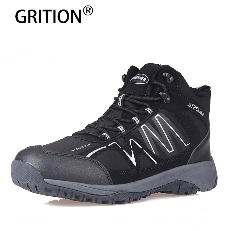 Calzado Botas Bota Casual Grition Hombres Senderismo Black Impermeable Piel Al Aire Hombre Seguridad La Libre Trek De Zapatos Plataforma vdRqSC