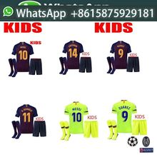Champions League2018 2019 new Barcelona jersey SUAREZ O.DEMBELE 18 19 home away child soccer jerseys sets Messi PIQUE Coutinho k(China)