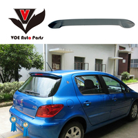 Year 2004 2012 307 ABS Plastic Material Unpainted Primer Rear Roof Spoiler for Peugeot 307 Hatchback