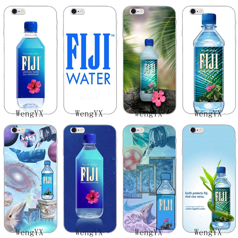 Us 1 99 Popular Bottle Fiji Water Slim Silicone Soft Phone Case For Iphone 4 4s 5 5s 5c Se 6 6s Plus 7 7plus 8 8plus X In Half Wrapped Cases From