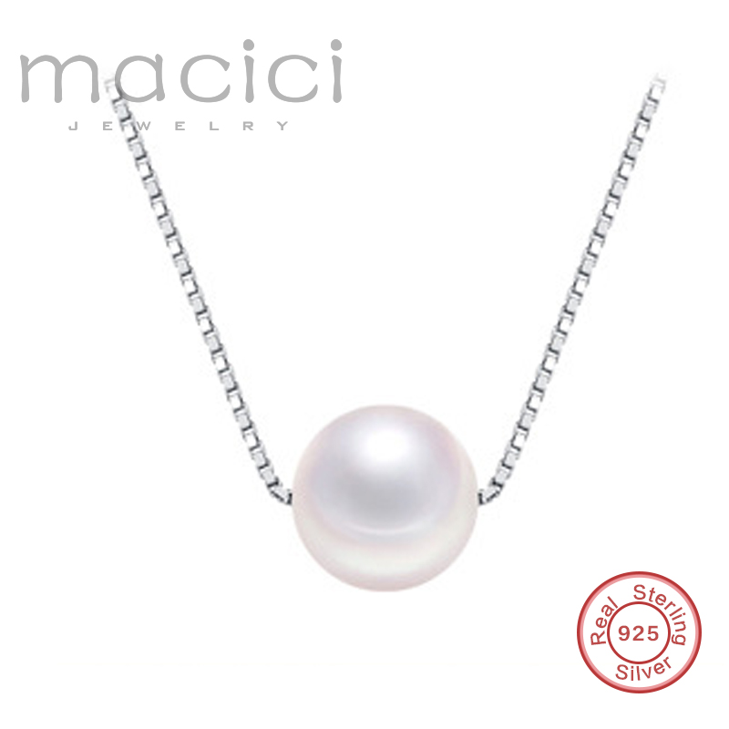 75baf08d3025f Nice Simulated Box Chain Single Pearl Necklaces Choker Necklace for ...