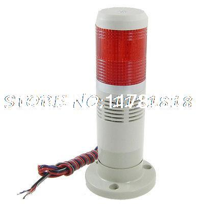 Industrial Red Tower Lamp Buzzer Alarm Warning Stack Light 12V DC dc24v tower buzzer warning red green led industrial warning light