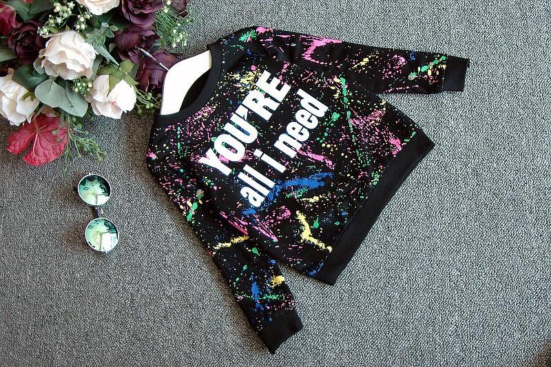Ali Królik 2 SZTUK topy + spodnie Toddler dziewczyna odzież kolorowe drukowanie dziewczyny ubrania dres dziewczynek dzieci 2 3 4 5 lat 7 tkaniny 10