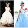 Blanco traje de bautizo del bebé cordón de la muchacha del vestido del bebé kleider Chirstmas Kids Rose princesa infantil ropa con el arco niña fiesta Formal