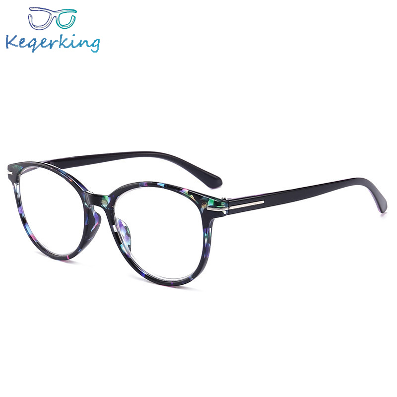 Women Men Round Black Leopard Presbyopia Strength 1.0 1.5 2.0 2.5 3.0 3.5 4.0 Reading Unisex Vintage Glasses Eyeglasses HA-12