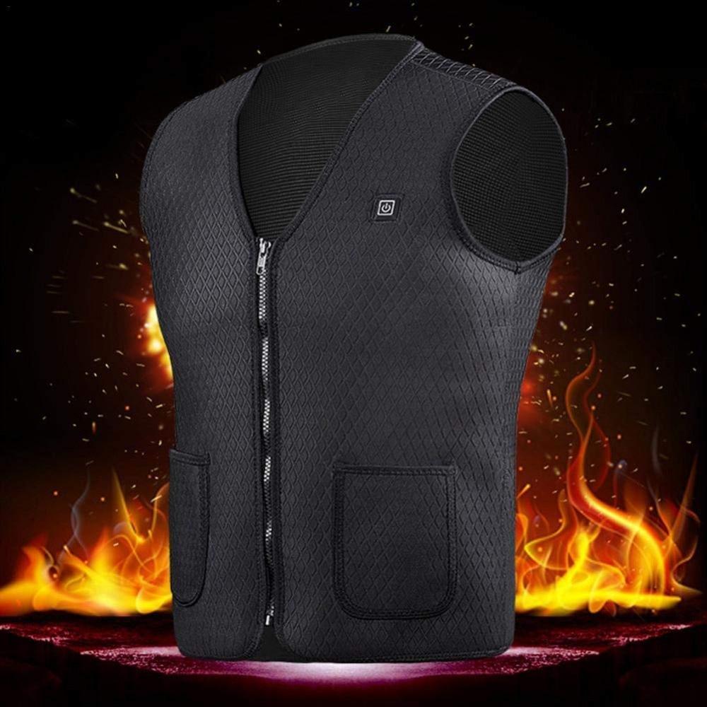 Veste isolée par gilet chauffé unisexe amélioré, vêtements thermiques de chauffage électrique d'usb pour des activités d'hiver, soulageant la douleur
