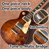 Smoke Colored Tiger Flame LP Electric Guitar A Neck Body And Adjustments Adjacent To Matic Bridge