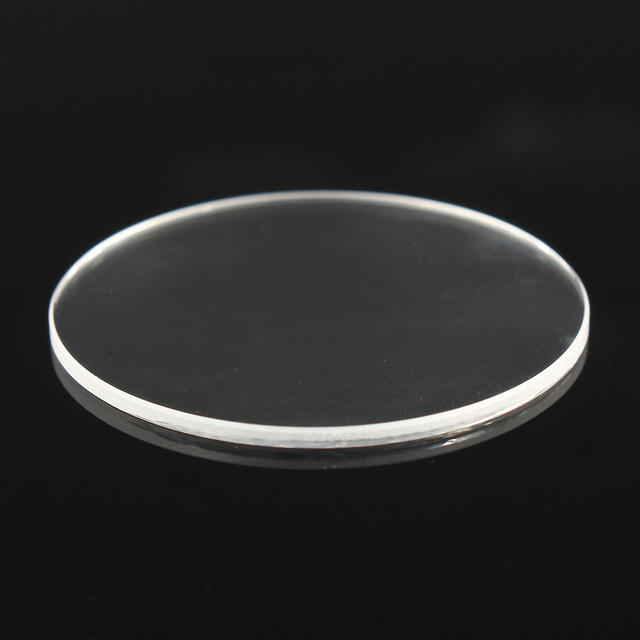 1.2mm Thick Flat Sapphire Watch Glass Anti-scratch Transparent Round Crystal Gla