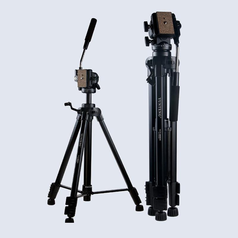 Neue Fotoausrüstung Yunteng VCT-880 Aluminium-stativ für Canon Nikon Micro Spiegelreflexkameras Unterstützung Flexible Stativ