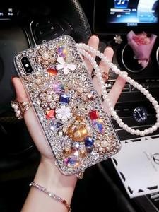 Image 3 - Sang trọng Bling Kim Cương Ốp Lưng điện thoại Samsung Galaxy J4 J6 J8 A6 A8 Plus A7 A9 J2 Pro 2018 Kim Cương Giả crystal Cover Coque Fundas