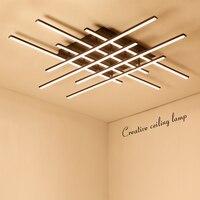 NEO gleam площади современные светодиодные потолочные светильники для гостиной спальня столовая Luminarias Алюминий белый Потолочный светильник с