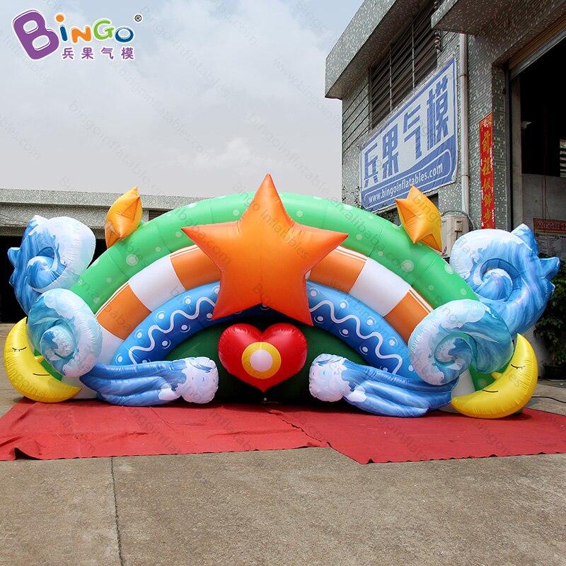 Индивидуальные 6X2,5 метров надувные телевизор фоне стены дизайн цифровой печати airblown star фоне стены для украшения игрушки