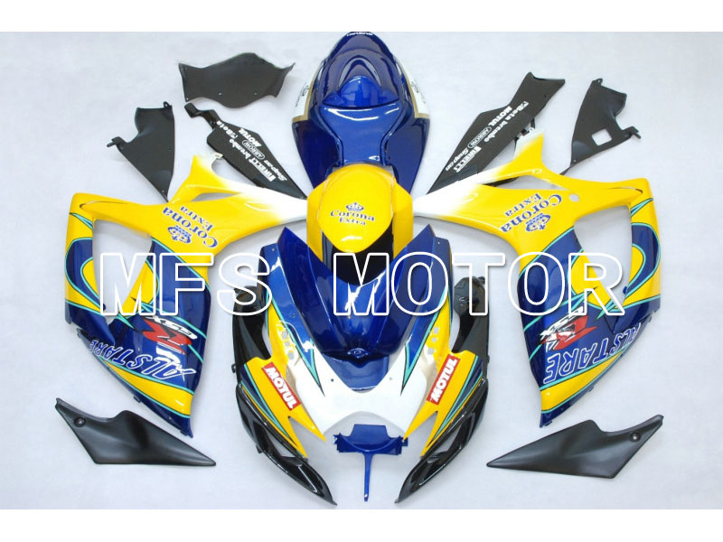 Для Suzuki системы GSX-Р 600/750 2006-2007 К6 инъекции ABS обтекатель - Корона - синий/желтый