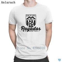 1a4cba4f74378 Rayados De Monterrey Mexico Retro Soccers camiseta HipHop ocasional camiseta  para hombres verano estilo Loose personalizada