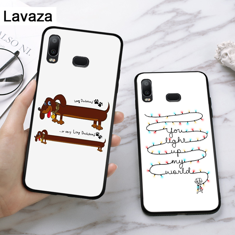 Lavaza Cute cartoon dog special Silicone Case for Samsung A3 A5 2016 2017 A6 Plus 2018 A7 A8 A9 A10 A30 A40 A50 A70 J6 in Fitted Cases from Cellphones Telecommunications
