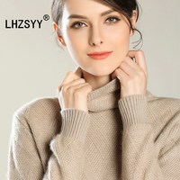 LHZSYY Autumn Winter New High Collar Pure Cashmere Sweater Fashion High Quality Women S Sweaters Shirt
