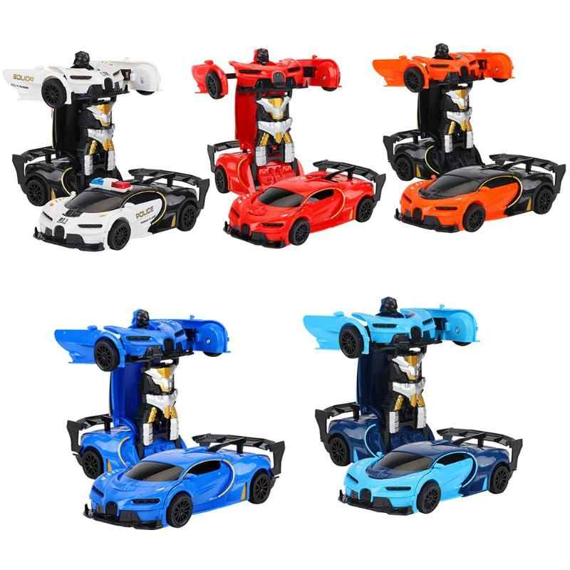 RC Deformation Car Vehicle Model Cool Robots Toys for Boys Children Gifts Car Transformation Robots Sports Vehicle Model Toys De
