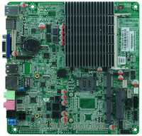 J1900 itx Motherboard For PC and all in one Computer Ultra thin Integrated Machine Without Fan Mini Industrial Control Board