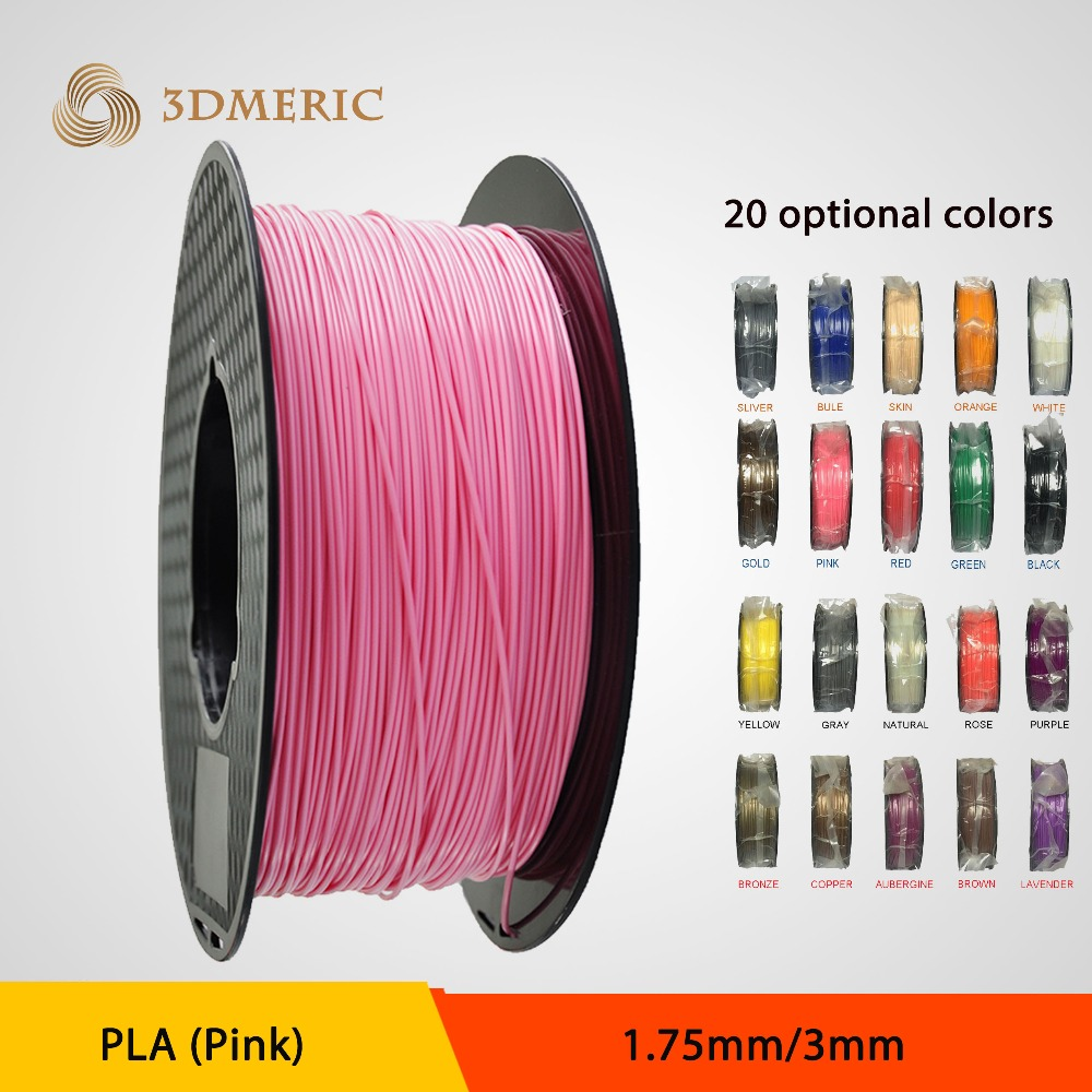 Free Shipping High quality 3D Printer Filament 1.75mm PLA 1KG Consumables Material MakerBot/RepRap/UP/Mendel big size 220 220 240mm high quality precision 3d printer diy kit with pla filament 8gb sd card and lcd for free