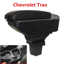 Storage Box For Chevrolet Trax Tracker / Trax 2013-2017 Armrest Arm Rest Center Centre Console Rotatable 2014 2015 2016(China)