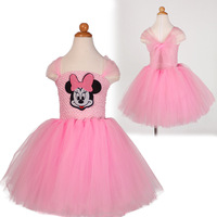 Children Fashion Clothes Pink Red Black Tutu Mesh Wedding Party Dress For Kids Special Occasion Toddler
