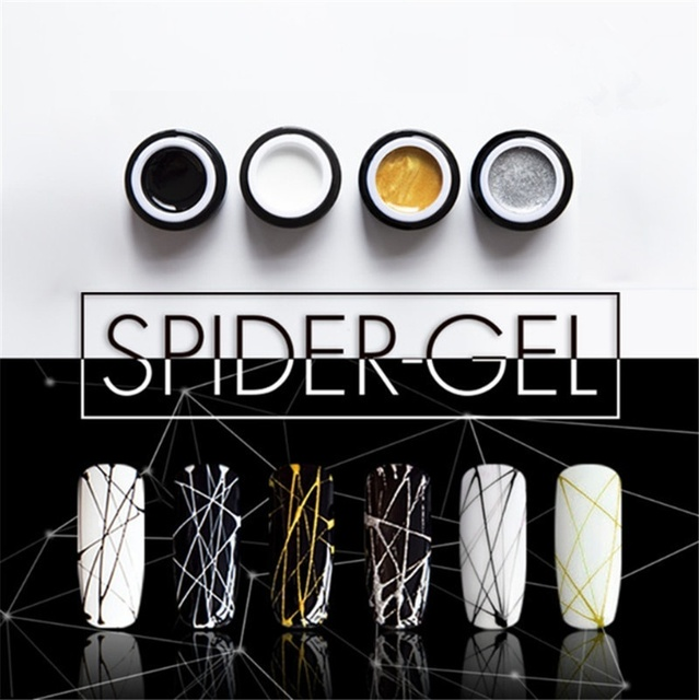 1 Pc 8ml Gel Nail Polish Art UV LED Professional Nail Paint UV Color Gel Lacquer Emboss Pulling Wire Spider Gels 5