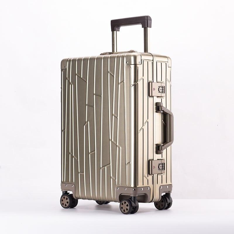 100 All Aluminium alloy Luggage Hardside Rolling Trolley Luggage travel Suitcase 20 Carry on Luggage 24