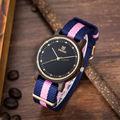Nueva Marca de Moda Exquisito Mujeres Vestido Reloj de pulsera de Moda 5 Colores De Madera De Madera Unisex Reloj Ocasional Madera Con Cuerda de nylon