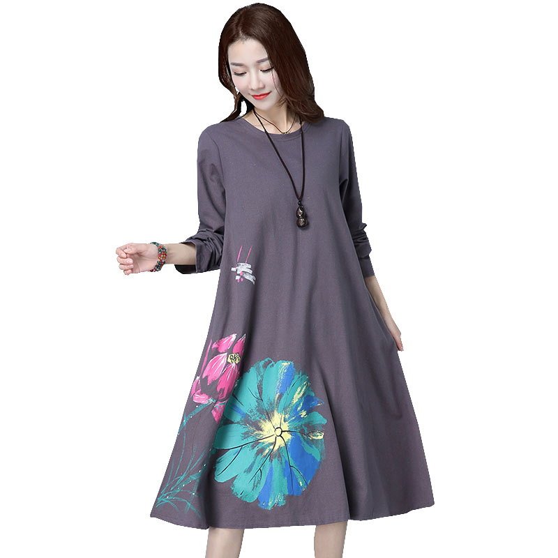 Long Sleeve Maternity Dress Loose Large Size Clothes For Pregnant Women Dresses Casual O-neck Pregnancy Dress 2018 Autumn New new dress for pregnant women summer loose large size slim maternity dresses summer fashion half lace stitching pregnancy clothes