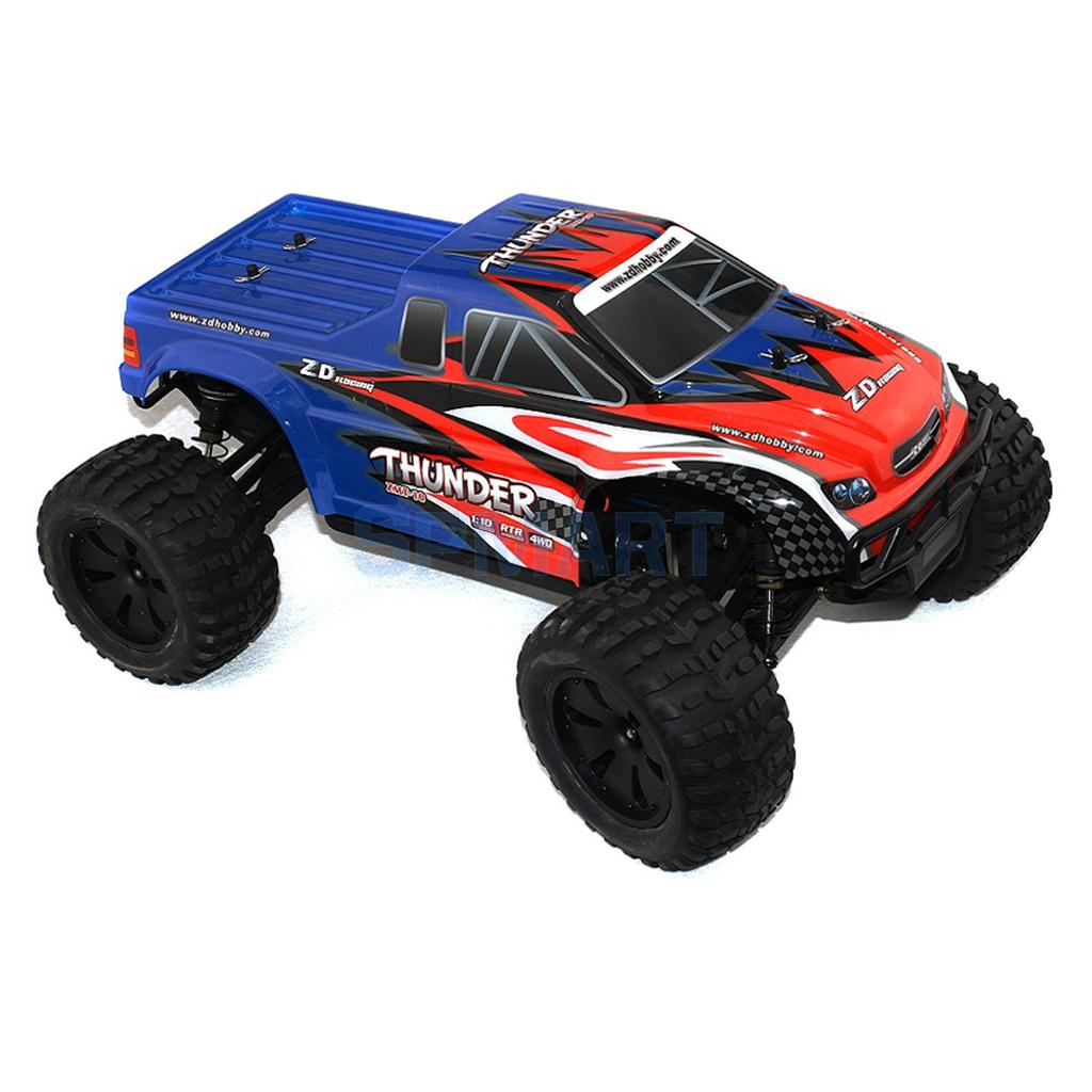 Brushless Racing RC Off-Road Monster Truck Remote Control Car Electric Power High Speed Blue 1/10 1 10 brushless electric monster truck remote control car brushless electric buggy version high speed off road with gt2b