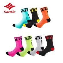 SanticCycling носки 5 пар/партия Мужские дышащие велосипедные носки анти-пот Баскетбол Футбол Спортивные носки Meias Ciclismo