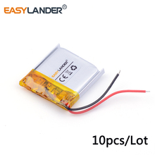 10pcs /Lot 3.7v lithium Li ion polymer rechargeable battery 352525 160mah  MP3 MP4 MP5 small toys GPS