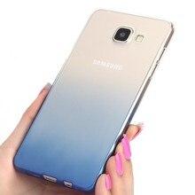 Fashion Soft Silicone TPU Gradient Color Cover Case For Samsung Galaxy A5 A7 A8 J3 J5 J7 S8 A9 C5 C7 C9 S5 S6 S7 Edge S9 Note 8