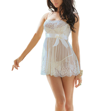 Women Casual Summer Lace Floral Crochet Strap Low Cut White Dress Sleepwear Plus Size font b