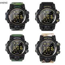 ANENG Waterproof Sports Smart Watch EX16S Camouflage Outdoor Bluetooth Remote Control Photo Long Standby Smartwatch